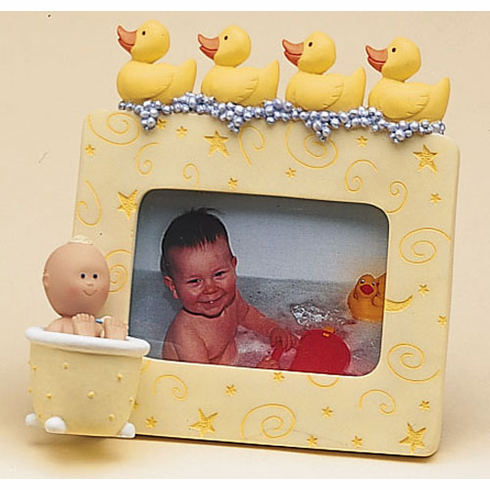 Polka Tots Bath Time With Ducks Frame, Resin 4.75 H, Holds 2 x3 Picture""