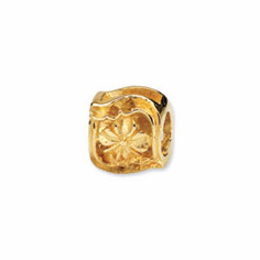 Reflection Beads 14k Yellow Gold Clover Bead