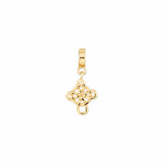 Reflection Beads Sterling Silver and Gold-plated Celtic Cross Dangle Bead