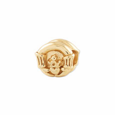 Reflection Beads Sterling Silver and Gold-plated Claddagh Bead