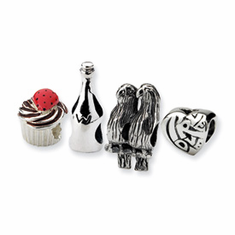 Reflection Beads Sterling Silver Celebration & Anniversary Boxed Story Set