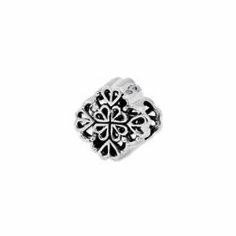 Reflection Beads Sterling Silver Four Leaf Clover Bali Bead