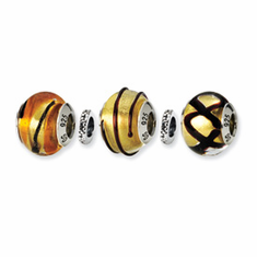 Reflection Beads Sterling Silver Golden Glitz Boxed Story Set (5 beads)