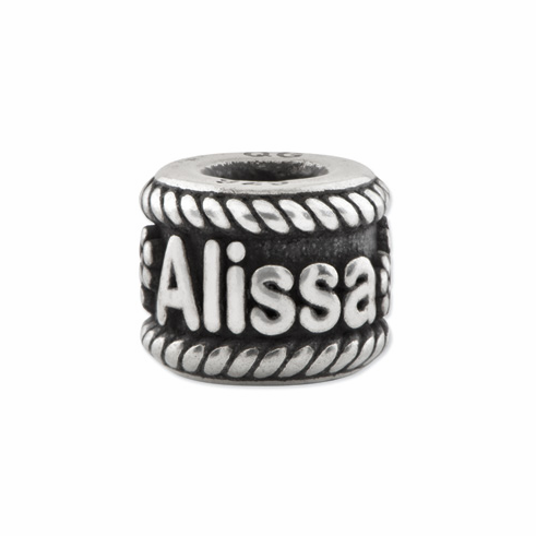Reflection Beads Sterling Silver Personalized Name Bead