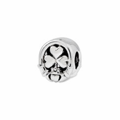 Reflection Beads Sterling Silver Three Leaf Clover Bead