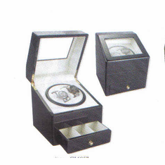 Rotations Double Watch Winder, Available in Black, Blonde Burlwood, Dark Burlwood, Cherry, Cherry Matte and Ebony