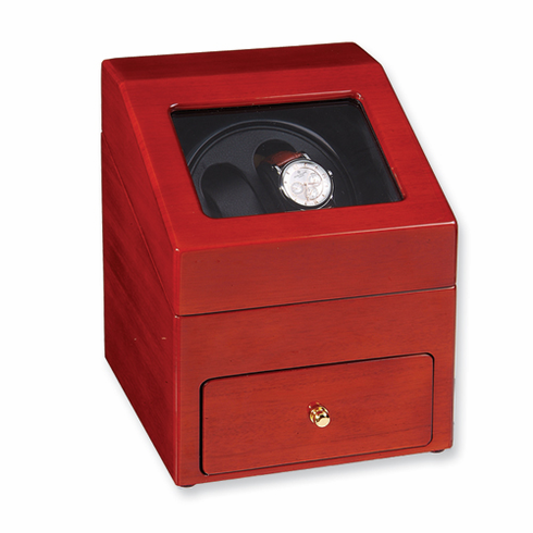 Rotations Double Watch Winder- Choose Solid Oak, Solid Mahogany or Solid Bubinga