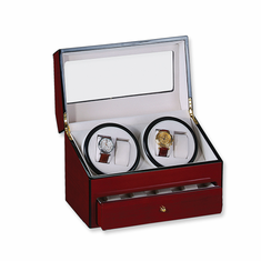 Rotations Four Watch Winder with 2 Turntables