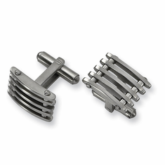 Stainless Steel Cuff Links by Chisel
