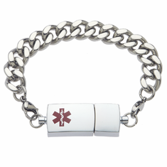 Stainless Steel Medical Id Bracelet with flash dirve