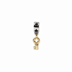Sterling Silver & 14k Reflections Key Dangle Bead