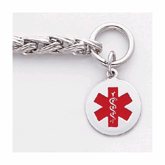 Sterling SIlver Medical ID Toggle Necklaces