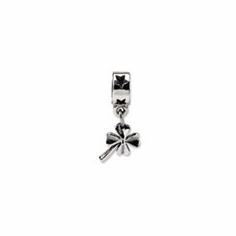 Sterling Silver Reflections 4-leaf Clover Dangle Bead