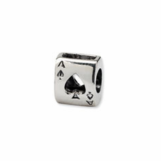 Sterling Silver Reflections Ace Card Bead