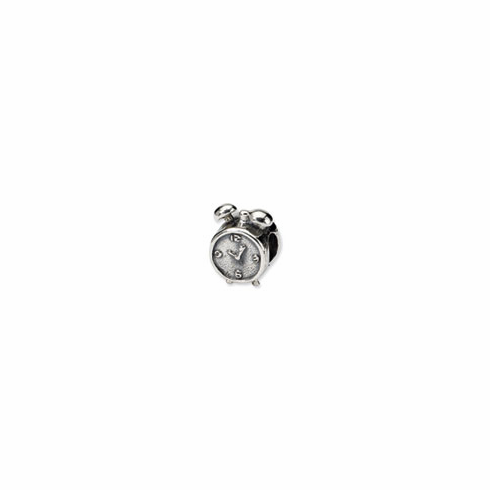 Sterling Silver Reflections Alarm Clock Bead