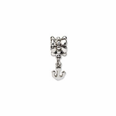 Sterling Silver Reflections Anchor Dangle Bead