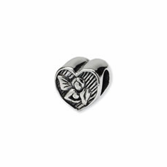 Sterling Silver Reflections Angel Heart Bead