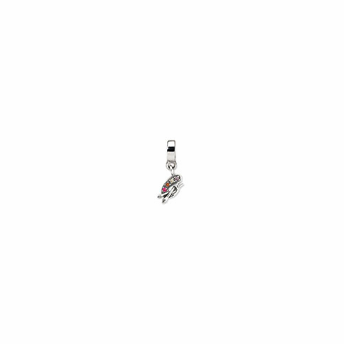 Sterling Silver Reflections Artist Palette CZ Dangle Bead