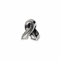 Sterling Silver Reflections Awareness Ribbon Bead