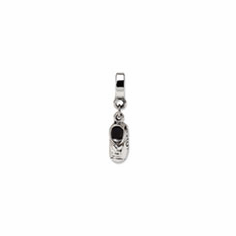 Sterling Silver Reflections Baby Shoe Dangle Bead