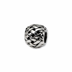 Sterling Silver Reflections Basketweave Bali Bead