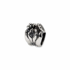 Sterling Silver Reflections Big & Little Hands Bead