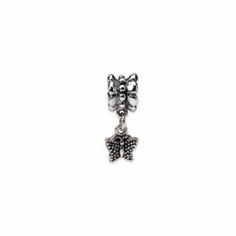Sterling Silver Reflections Butterfly Dangle Bead