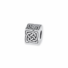 Sterling Silver Reflections Celtic Block Bead