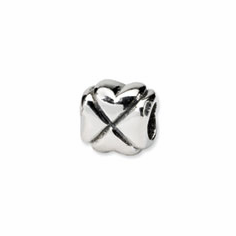 Sterling Silver Reflections Clover Bead