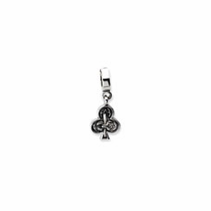 Sterling Silver Reflections Clubs Dangle Bead