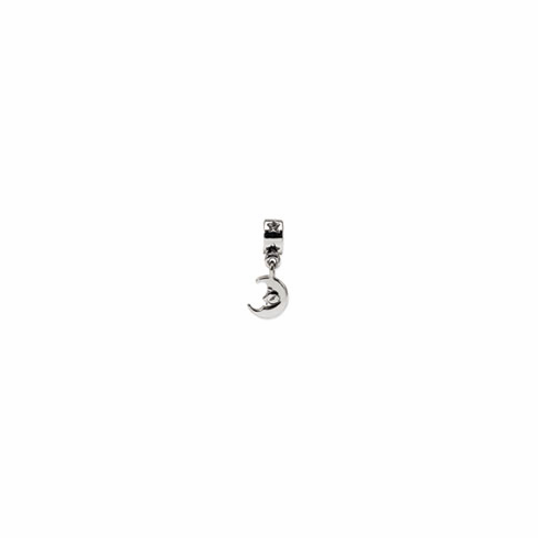 Sterling Silver Reflections Crescent Moon Dangle Bead