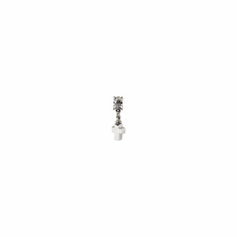 Sterling Silver Reflections Cross Ash Dangle Bead