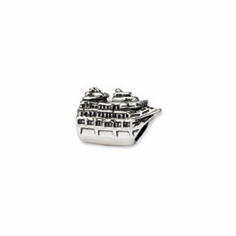 Sterling Silver Reflections Cruise Ship Bead, Ready to Ship