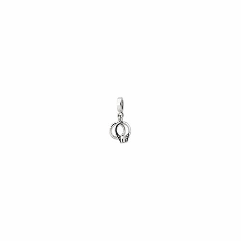 Sterling Silver Reflections CZ Bridal Rings Dangle Bead