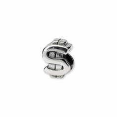 Sterling Silver Reflections Dollar Sign Bead