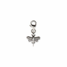 Sterling Silver Reflections Dragonfly Click-on for Bead