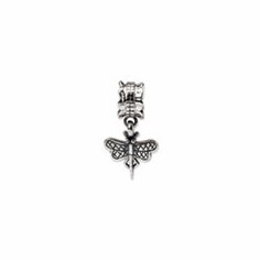 Sterling Silver Reflections Dragonfly Dangle Bead