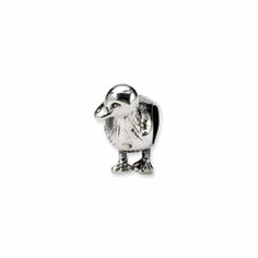 Sterling Silver Reflections Duck Bead