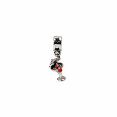 Sterling Silver Reflections Enameled Martini Dangle Bead