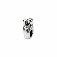 Sterling Silver Reflections Family of 3 Bead