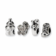 Sterling Silver Reflections First Baby Boxed Bead Set