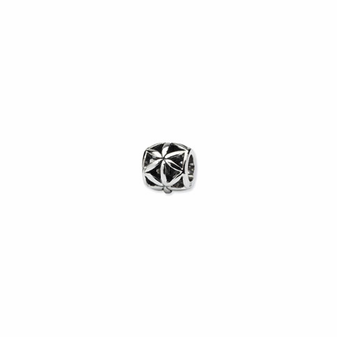 Sterling Silver Reflections Floral Bali Bead