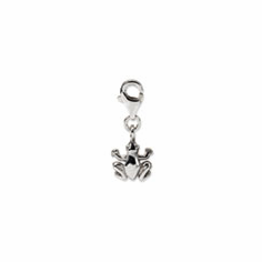 Sterling Silver Reflections Frog Click-on for Bead