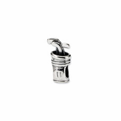 Sterling Silver Reflections Golf Bag Bead
