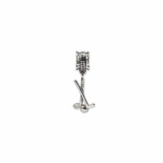 Sterling Silver Reflections Golf Clubs and Ball Dangle Bead