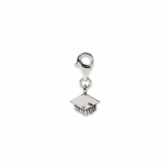 Sterling Silver Reflections Graduation Cap Click-on for Bead