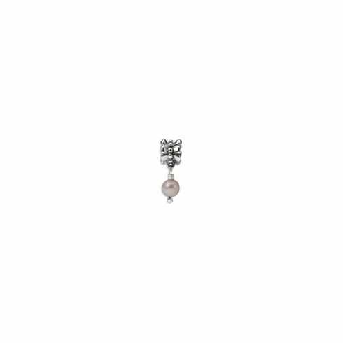 Sterling Silver Reflections Grey Freshwater Cultured Pearl Dangle Bead