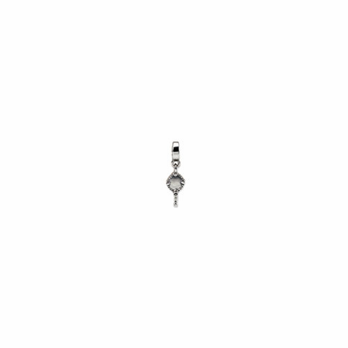 Sterling Silver Reflections Hand Mirror Dangle Bead