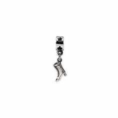 Sterling Silver Reflections High Heel Boot Dangle Bead