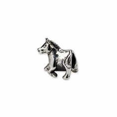 Sterling Silver Reflections Horse Bead